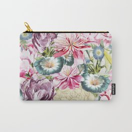 Vintage & Shabby chic -  Retro Spring Flower Pattern Carry-All Pouch