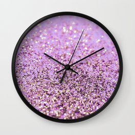 Pink Lilac Gold Unicorn Glitter Glam #1 (Faux Glitter) #shiny #decor #art #society6 Wall Clock