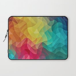 Abstract Color Wave Flash Laptop Sleeve