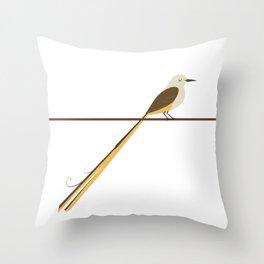 Scissortail flycatcher Throw Pillow