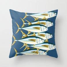 School of Tuna, fish Throw Pillow