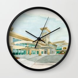 Watercolor Warwick World Headquarters Wall Clock
