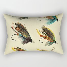 Illustrated Salmon Fly Fishing Game Fish Identification Chart Rectangular Pillow