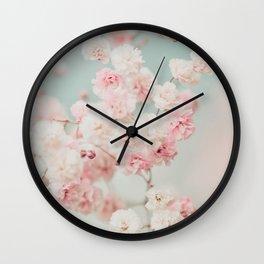 Gypsophila pink blush ll Wall Clock