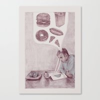 health Canvas Prints featuring Health by Joshua Goymer