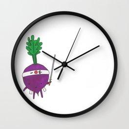 The Beetroot Samurai Wall Clock