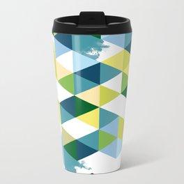 colored triangles - 1 Metal Travel Mug