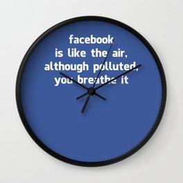 Poster Facebook Wall Clock