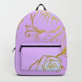 Gold Roses - Mauve Backpack