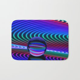 Colours in the glass Bath Mat