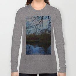 Deserted Old River Boathouse Long Sleeve T-shirt