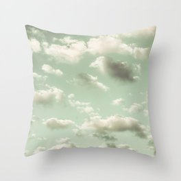 The Shape of Clouds Throw Pillow