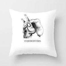 handcigskull II Throw Pillow