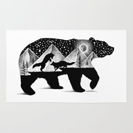 THE BEAR AND THE FOXES Rug