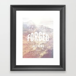 forged path Framed Art Print