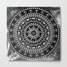 Licorice Mandala Metal Print