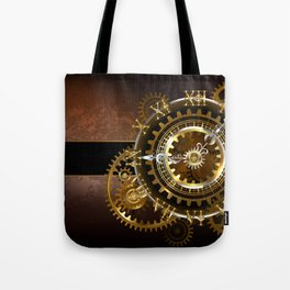 Steampunk Clock with Gears Tote Bag