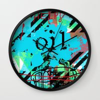 oil Wall Clocks featuring Oil by Zoé Rikardo