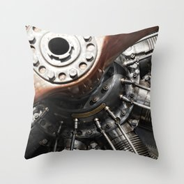 Airplane motor Throw Pillow