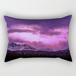 Chugach Mountains in Purple - II Rectangular Pillow