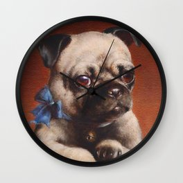 The Pug - Carl Reichert Wall Clock