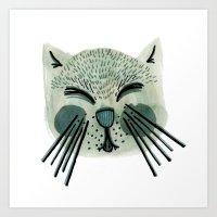 ONE CAT Art Print