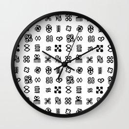 Adinkra Symbols Of West Africa Wall Clock