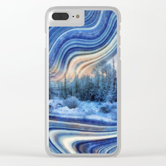 Surreal winter forest Clear iPhone Case