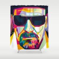 gangster Shower Curtains featuring Pop Art London Vector Artist CONQR Ultimate Gangster by Unpublic Artists