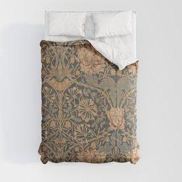 Honeysuckle by William Morris 1876 Antique Vintage Pattern, CC0 Spring Summer Comforters