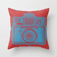 I Still Shoot Film Holga Logo - Red & Blue Throw Pillow