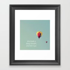 Deep Breath Framed Art Print