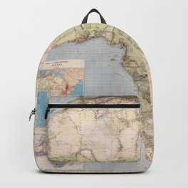 1885 Vintage Map of Africa Backpack
