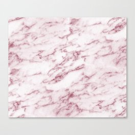 Contento rosa pink marble Canvas Print