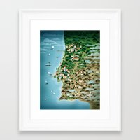 portugal Framed Art Prints featuring Portugal by Steebz
