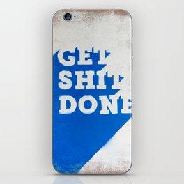 Get Shit Done Stencil Blue iPhone Skin