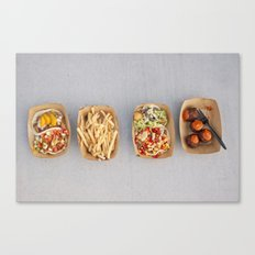 Food Organized Neatly Canvas Print
