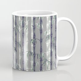 Bamboo Forest Pattern - Grey Blue White Coffee Mug