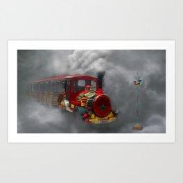 Foggy Voyage Art Print