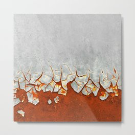 Rust and Grey Metal Print