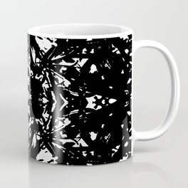 Abstract Carving: Black Coffee Mug