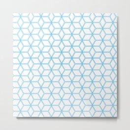 Geometric Hive Mind Pattern - Blue #108 Metal Print