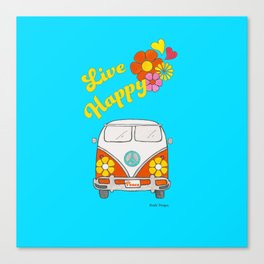 Live Happy Van Canvas Print
