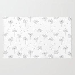 Dandelions in Grey Rug