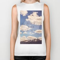 the mountains are calling Biker Tanks featuring the mountains are calling by shannonblue