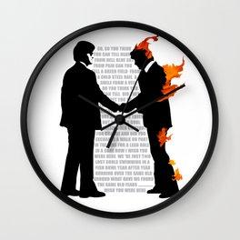 #WISH YOU WERE HERE Wall Clock