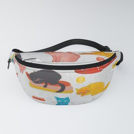 Playful Cats - illustration Fanny Pack