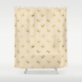 Little Golden Crab Pattern Shower Curtain