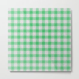 Emerald Buffalo Plaid Metal Print