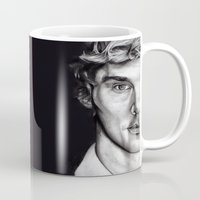 benedict Mugs featuring Benedict Cumberbatch  by Hannah D